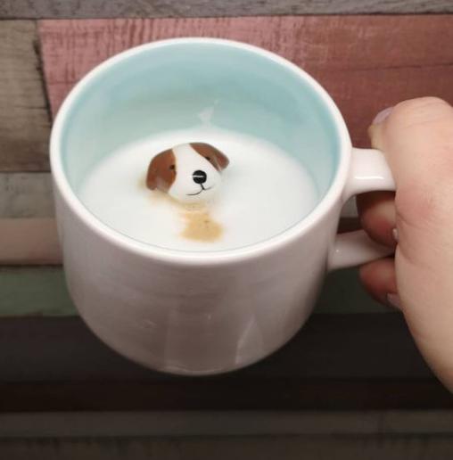 Tasse mit 3D Hund